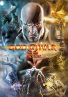 God of War Poster-Montagem by tennyson5000