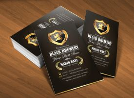 Black brewery business card v1 by Lemongraphic