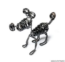 black wire dog by m0rpheus