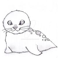 Baby Seal by MagicMushroomx