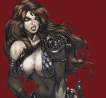 Red sonja detail by kirbynasty