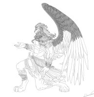 Winged Guardian 02 WIP by Kurtssingh