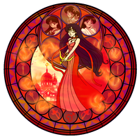 KH Stained glass- Mars by CL-Pinkskull