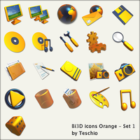Bi3D icons - Orange by teschio