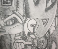 Sonic Charcoal Drawing by Cacti