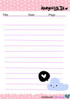 Letter Paper - Notebook by iloveyouLOLJK