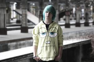 Turquoise hair 5 by Hampyi