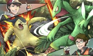 Collab [with Akbarbisul]: Pokemon Battle! - Done by Mossygator