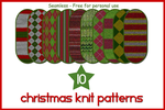 10 Christmas Knit Patterns by gollygirls