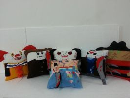 Handmade Horror Movie Pillow Set by RbitencourtUSA