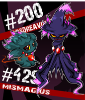 Misdreavus and Mismagius by Geistbox