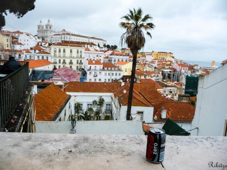 Lisbon roofs and Cola Zero by Rikitza