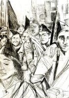 Spanish civil war painting sketch by LordOrlando