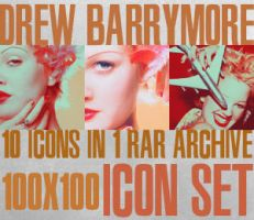Drew Barrymore Icon Set I by haunted-passion
