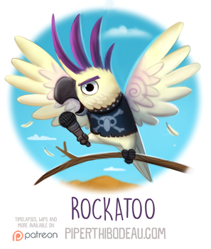 Daily Paint 1570. Rockatoo by Cryptid-Creations