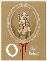 O is for Oval Portrait by Disezno