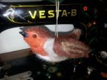 Needle Felted Robin by Wabbit-t3h