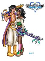 Aladdin Esmeralda Keybladers by AwesomebyAccident