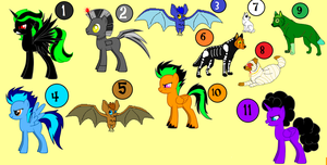 Free Halloween Adopts -CLOSED- by Sooty123