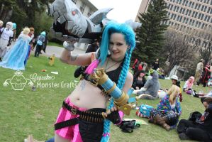 Otafest 2014 Jinx cosplay by CupCakeMonsterCrafts