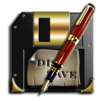 Steampunk Disc Write/Save Icon by yereverluvinuncleber