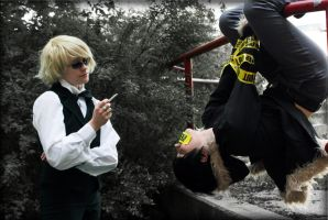upside down Durarara - shizaya by Tenraii
