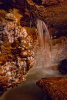 Waterfall Inside the Cave by DeingeL