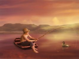 The Little Angler by mrscats