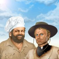 Bud Spencer and Terence Hill by DarkKnight81