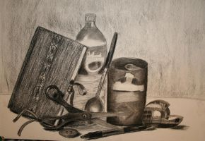 Still Life of Eight Objects by Akili-Amethyst