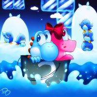 Birdo and Yoshi In Da Bucket by Jack-a-Lynn