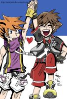 Neku and Sora- Adventureeeeeee by Mistynia