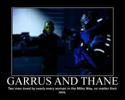 Garrus and Thane by Fire-Warrioress