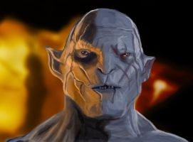 Azog-color practice by JarodValentin