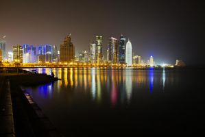 Qatar - Doha - Corniche - Before Dawn by GiardQatar