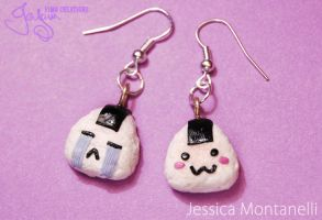 Kawaii Onigiri - Earrings by Jeyam-PClay
