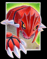 Groudon ACEO by soulwithin465