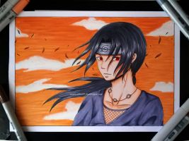 Itachi Copic Fanart by Tiha90