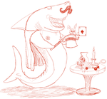 Magic Shark Sketch by SometimesDrawings