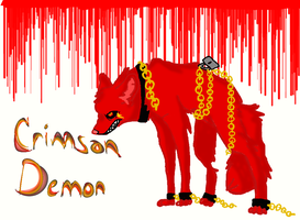 crimson demon the wolf by evilfliqpy
