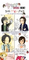 Doublememe with Lil Sis Dae by f-wd