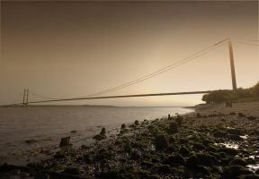 Humber bridge at sunset by CharmingPhotography