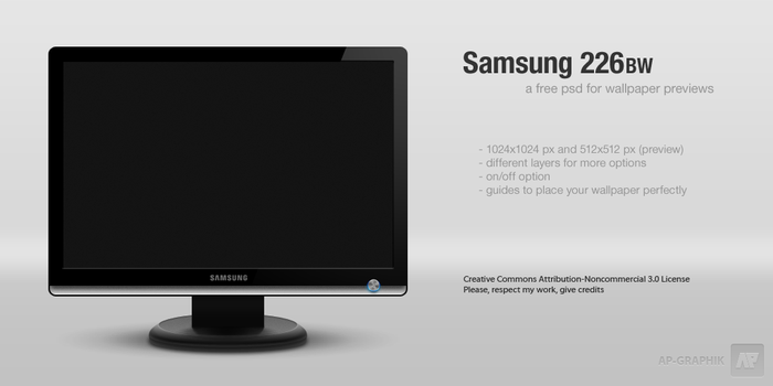 Samsung 226BW .psd by ap-graphik