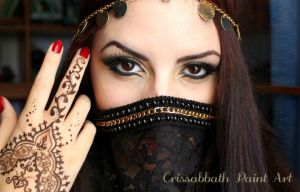 Persian Make up by CrissabbathPaintArt