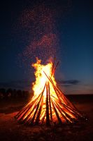 bonfire at midsummer by mescamesh
