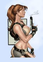 Lara Croft by Mike DeBalfo by Electric-Eccentric