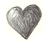 Doodle of a Heart by XDestinyRoseX