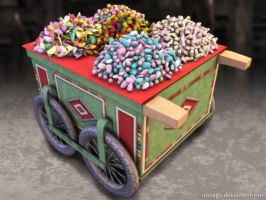 Traditional Syrian Candy Cart 2 by merage