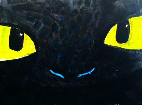 Old Alpha Toothless Painting by BlahBlahToucan
