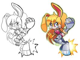 Inks-to-Colors Bunnie by herms85